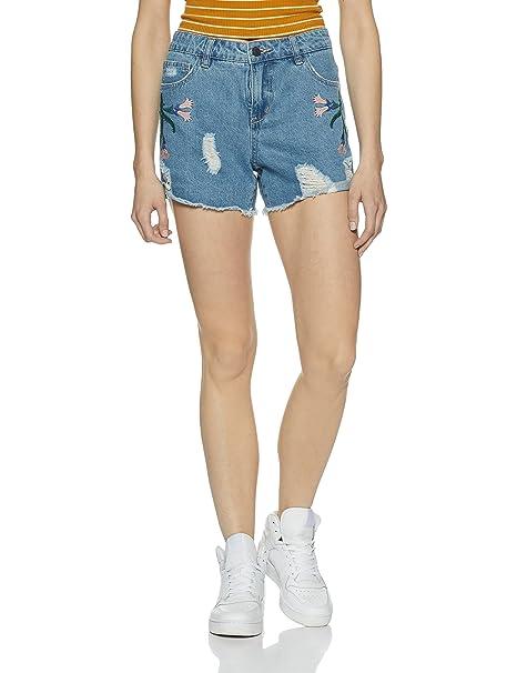 41ea23dcb0ce Vero Moda VMMAISI NW Loose Shorts - Short Mujer, Azul (Light Blue ...