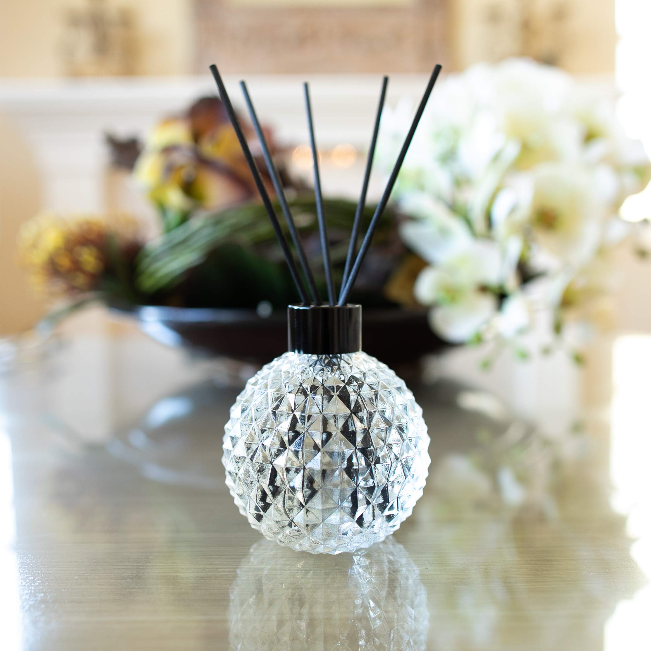 Optatum Reed Diffuser Set - 100% Natural Extract Alcohol-Free Home Fragrance | Sparkling Pomelo, Mint, and Vetiver Scent | Room Freshener, 100ml by Optatum (Image #2)