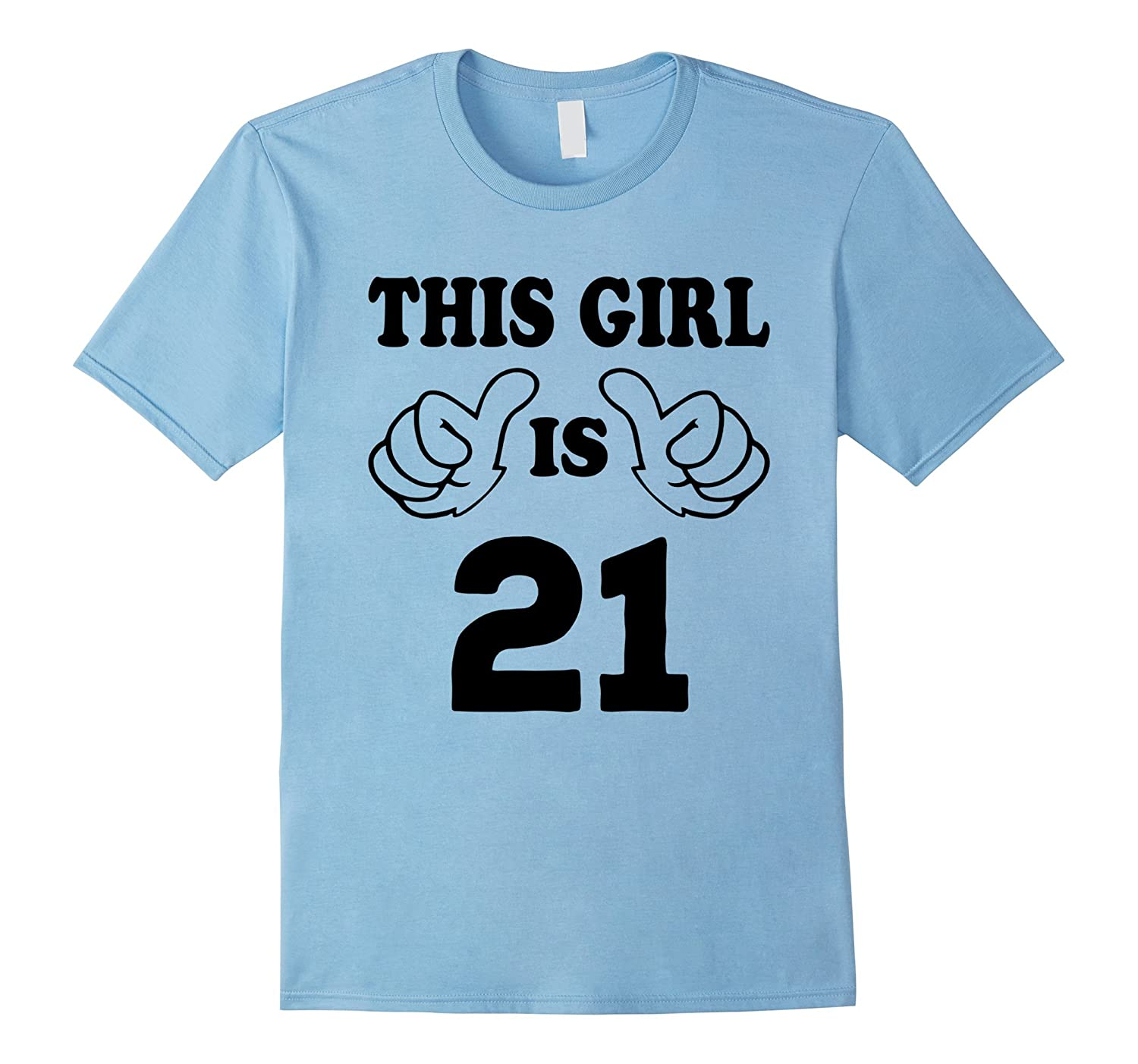 This Girl Is Twenty One 21 Years Old 21st Birthday Gift Idea PL