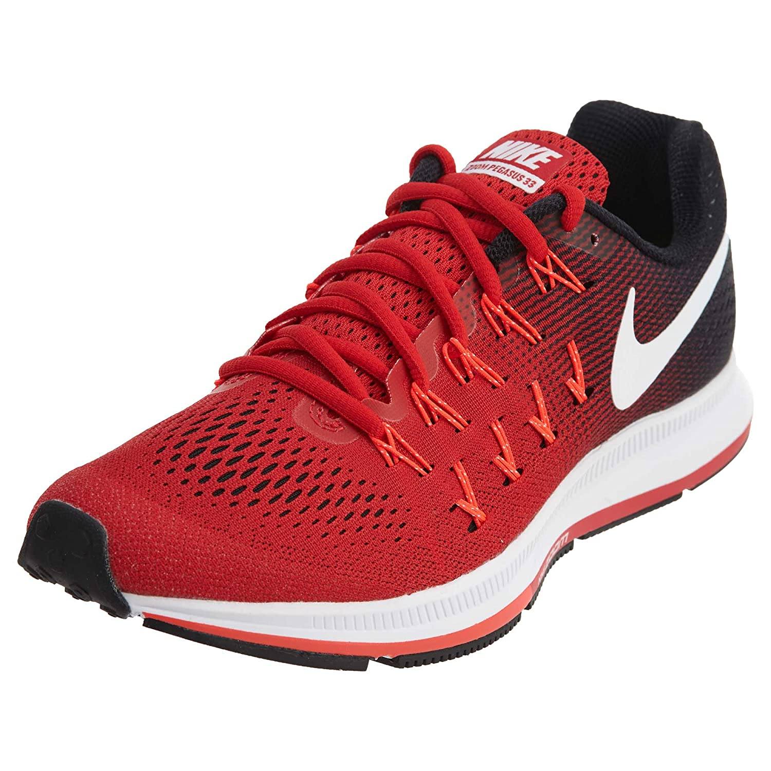 4873b9482eb35 Nike Men's Air Zoom Pegasus 33, University Red/White/Black - 10 D(M ...