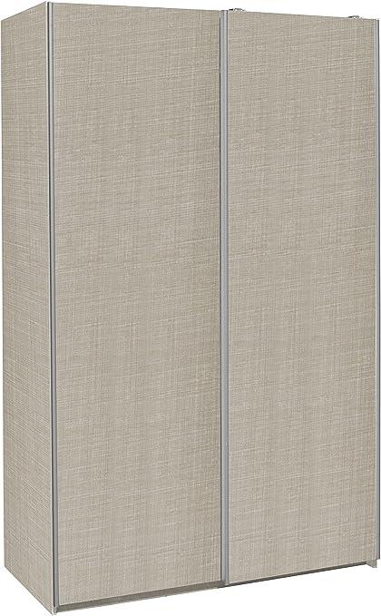 MUEBLECASA.COM Armario Puertas Correderas Premium 200cm Alto x 120cm Ancho x 60cm Fondo (Lino): Amazon.es: Hogar