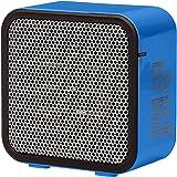 AmazonBasics 500-Watt Ceramic Small Space Personal Mini Heater - Blue (Renewed)