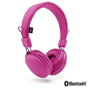 Urbanz - Auriculares inalámbricos con micrófono integrado (Bluetooth, ligeros) rosa: Amazon.es: Electrónica
