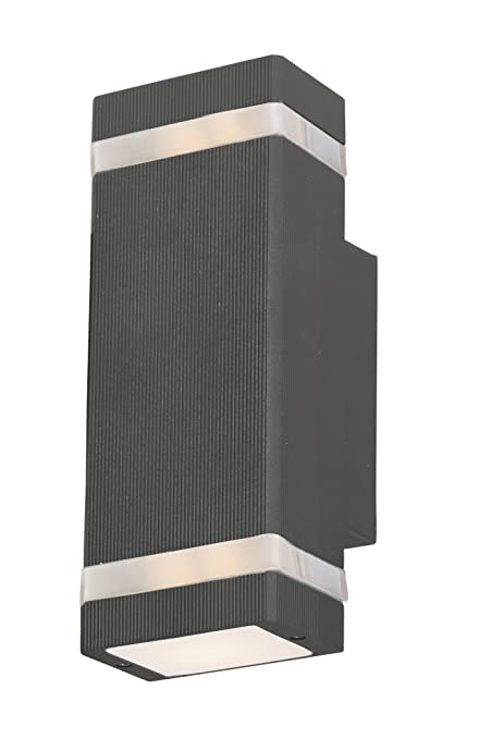 Maxim 86129abz lightray led 2 light wall sconce architectural bronze finish glass