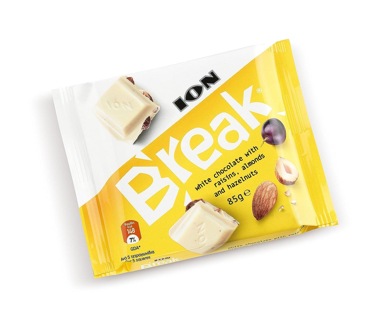 Break Chocolate Blanco Con Pasas Almendras Y Avellanas 85 Grs.: Amazon.es: Alimentación y bebidas
