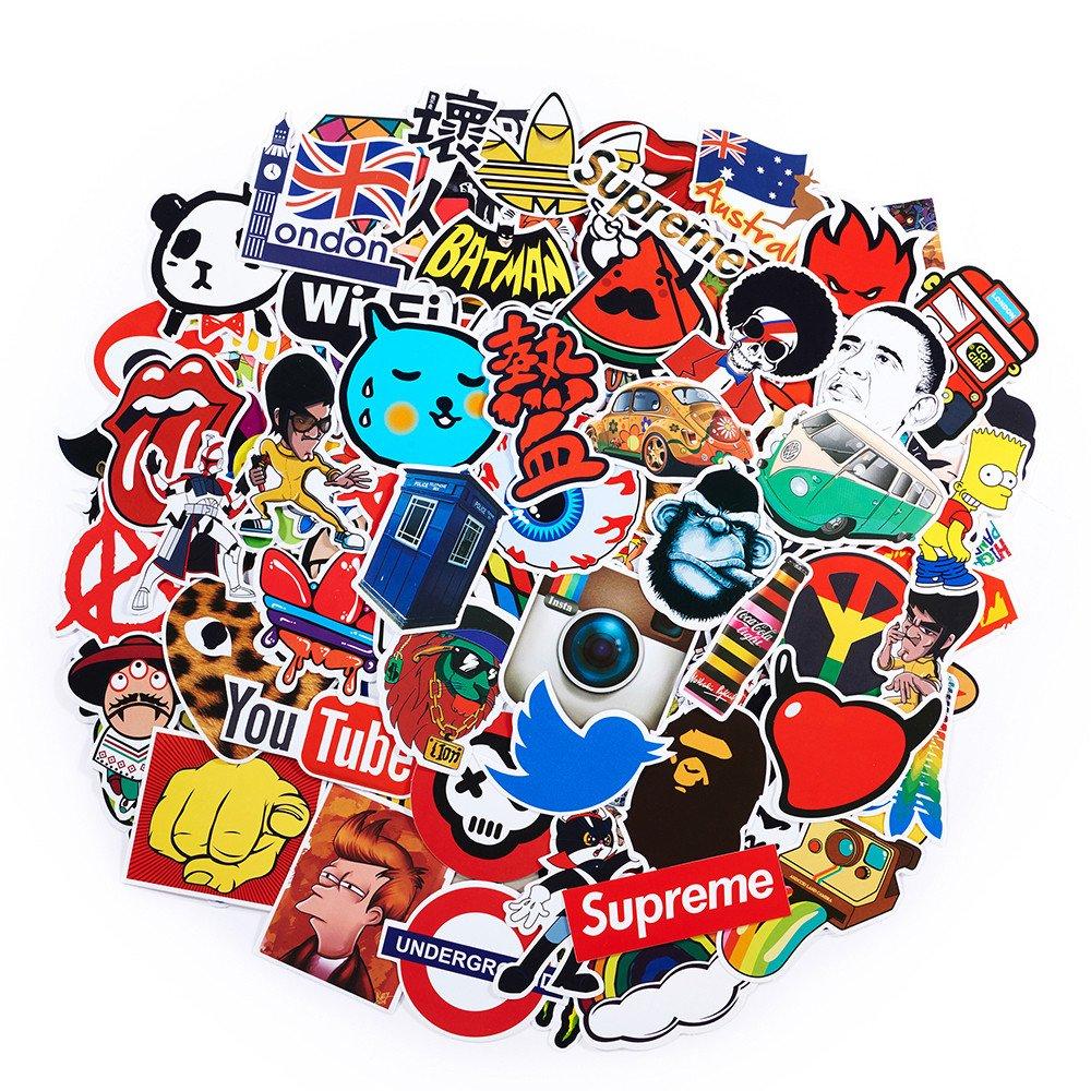 Suprcool 2018dernier CRI Ensemble de stickers 50pcs multicolore