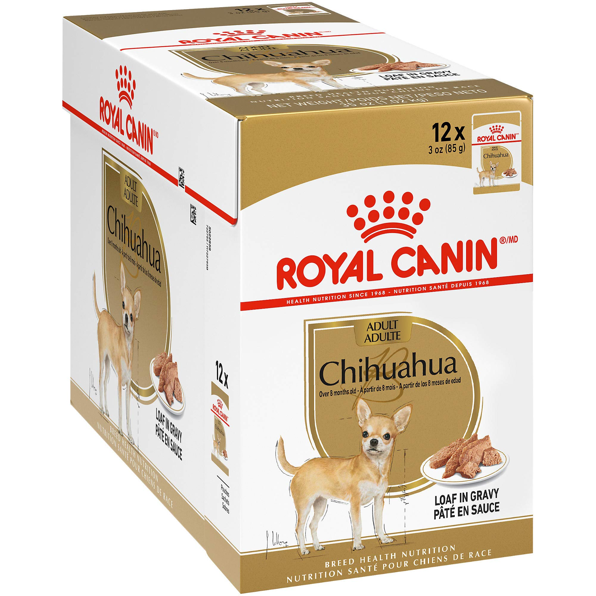 Royal Canin Breed Health Nutrition Chihuahua Loaf in Gravy Pouch Dog Food, 3 oz Pouch (Pack of 12) by Royal Canin