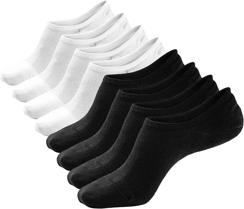 No Show Socks Low Cut Ankle Socks 8 Packs Casual Cotton Socks for Men & Women