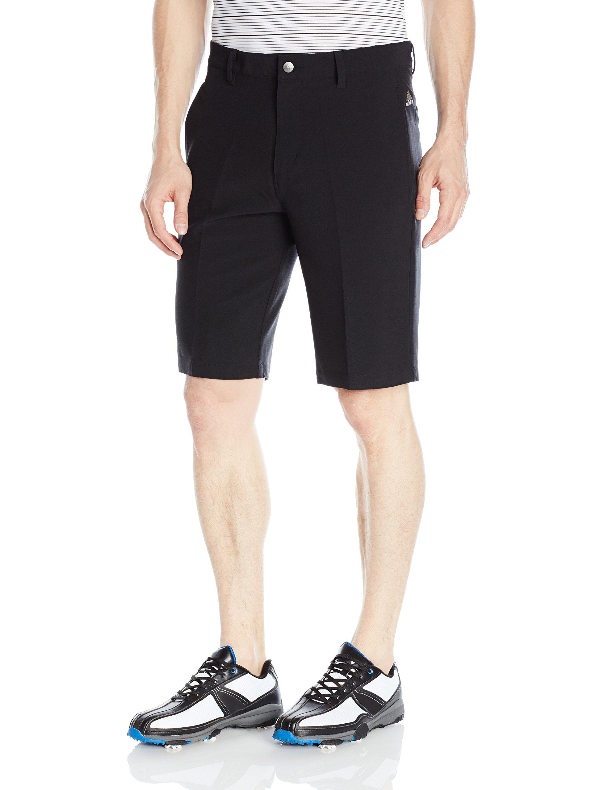 adidas Golf Ultimate+ 3-Stripes Short, Black, 40'' by adidas