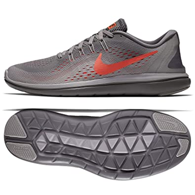 pretty nice b4671 5dbc8 Nike Flex 2017 RN 898457-014 Gunsmoke Grey Black Crimson Men s Running