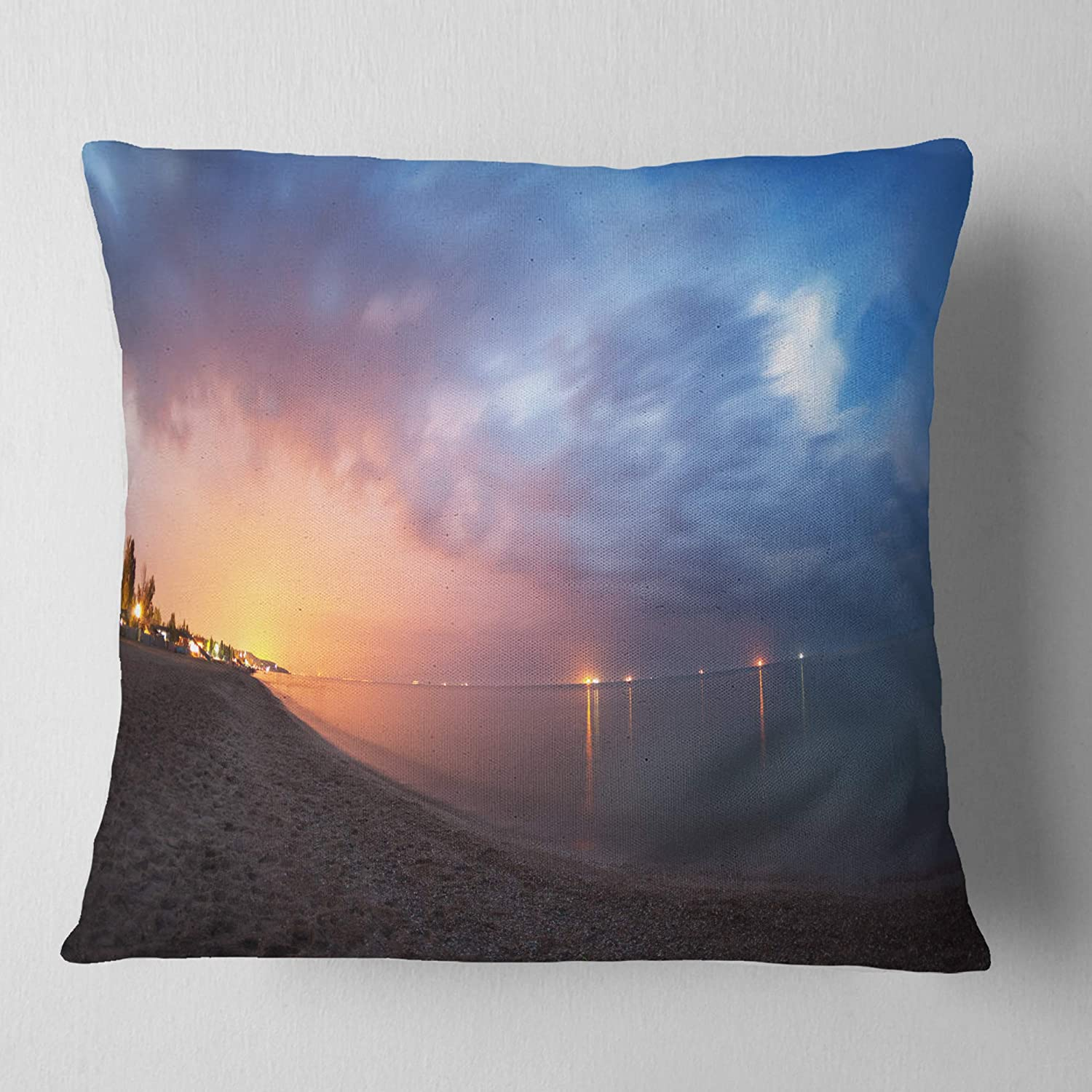X 26 In In Designart Cu9353 26 26 Summer Night With Blue Sky Skyline Photography Cushion Cover For Living Room Sofa Throw Pillow 26 In Decorative Pillows Inserts Covers Throw Pillow Covers