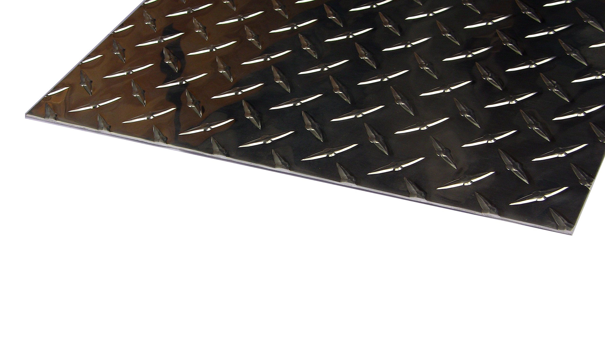 Aluminum Diamond Plate Door Kick Plate .062 x 12 x 24 in. w/out screws and holes | Kickplate (1/16 x 12 x 24 in.) UAAC