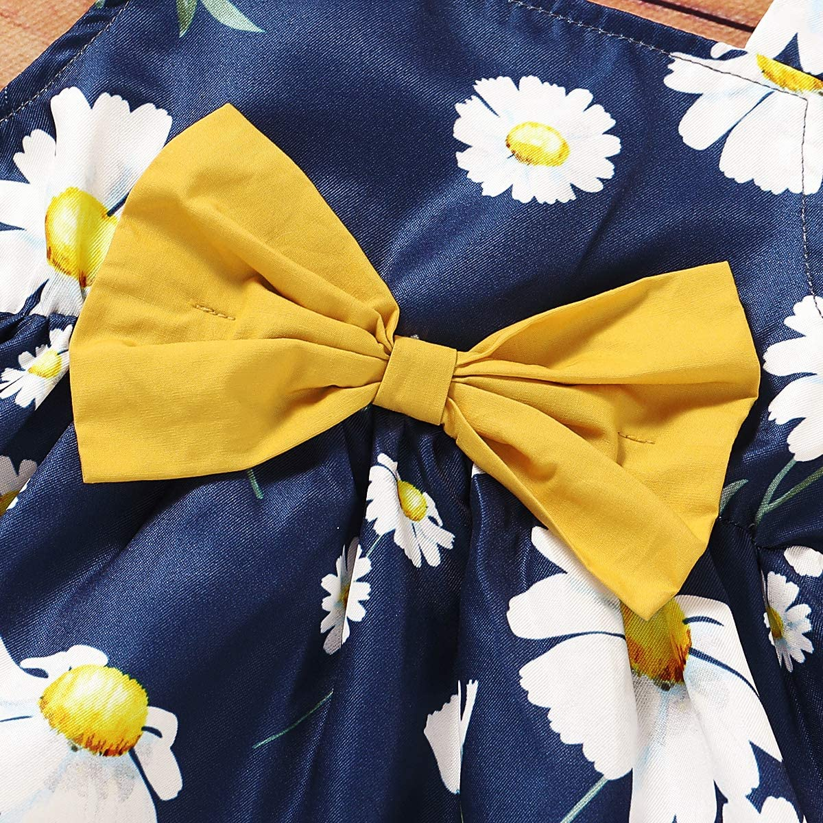 pantaloni corti DaMohony Kids Girl Bowknot Floral Top fascia vestiti vestito per 1-4 anni