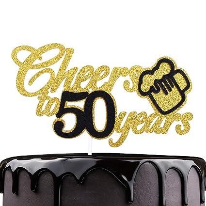 Decoración para tarta de 50 cumpleaños.: Amazon.com: Grocery ...