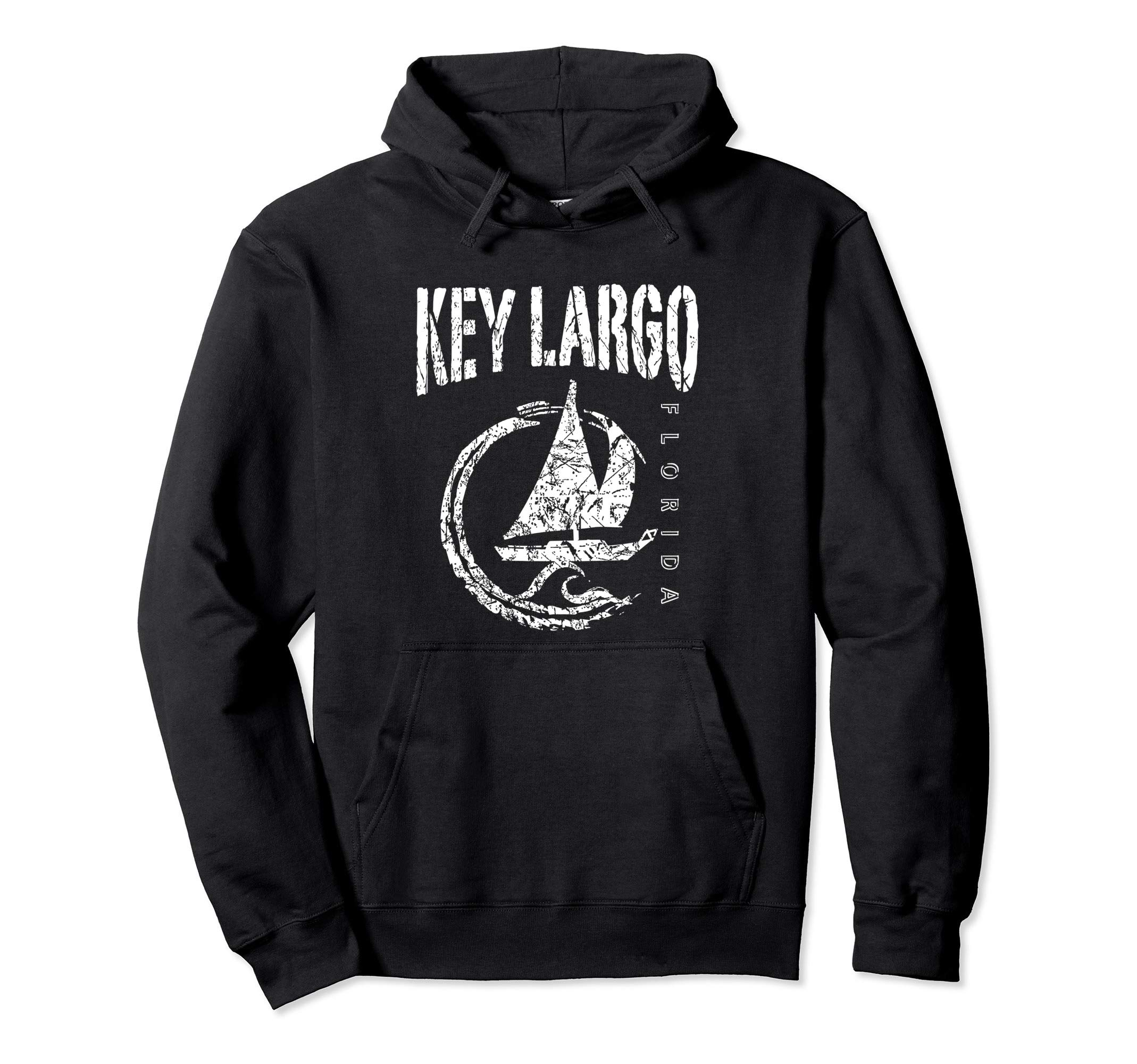 Key Largo Florida Souvenir, Sailboat Sailing Pullover Hoodie by KEY LARGO Souvenir Gift Florida Sailing FL