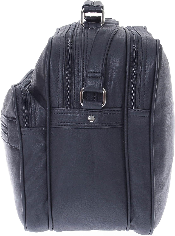 Noir Sacoche de travail//voyage pour homme Avec bandouli/ère pour port sur l/'/épaule Aspect cuir Noir - FBA-FK-Germany-Quer