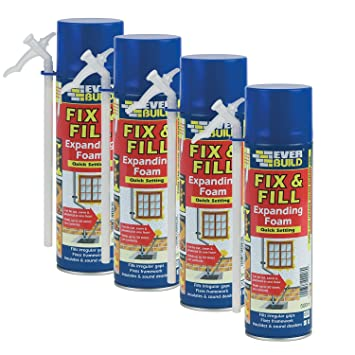 Everbuild 4 pc 500 ml Fill and Fix ajuste rápido espuma expansiva ...