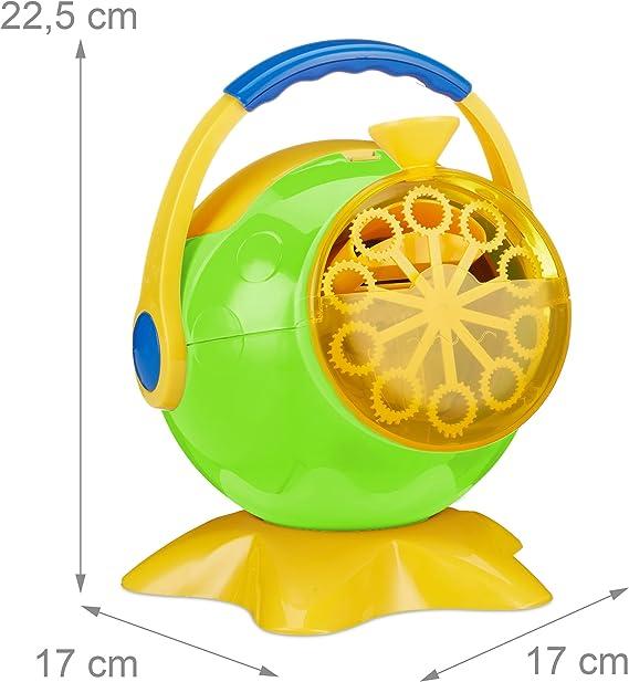 Relaxdays Machine /à bulles canon /à bulles de savon design h/élice mariage f/ête concert soir/ée enfant Rose