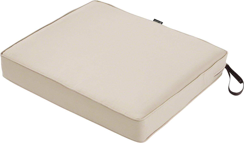 "Classic Accessories Montlake Seat Cushion Foam & Slip Cover, Antique Beige, 21x19x3"" Thick"