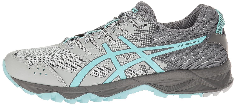 ASICS Women's Gel-Sonoma 3 Trail Runner Grey/Aqua B01GUF84UG 10.5 B(M) US|Mid Grey/Aqua Runner Splash/Carbon 2ae679