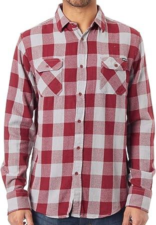 Camisa de manga larga Santa Cruz Derby Port-gris Check