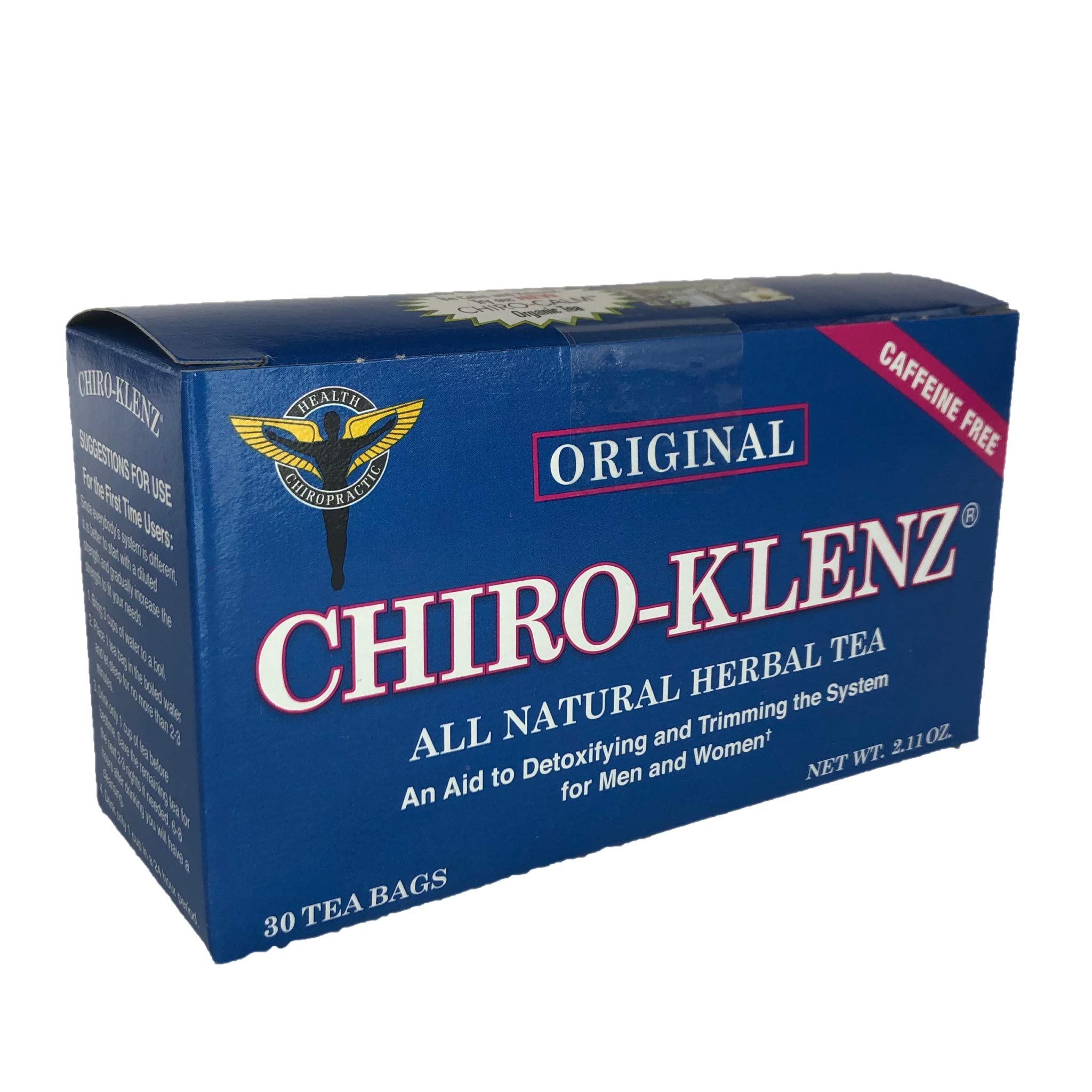 Chiro-Klenz All Natural Herbal Tea -Chiro-Klenz Original | Detox, Cleansing Tea | Supports Weight Loss | Relieves Constipation | All Natural, Caffeine Free 30 Teabags