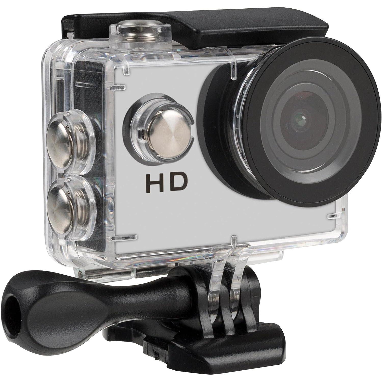 TecPlus TPACHDWT - Cámara de acción Ultra HD 720P con accesorios de instalación, color blanco