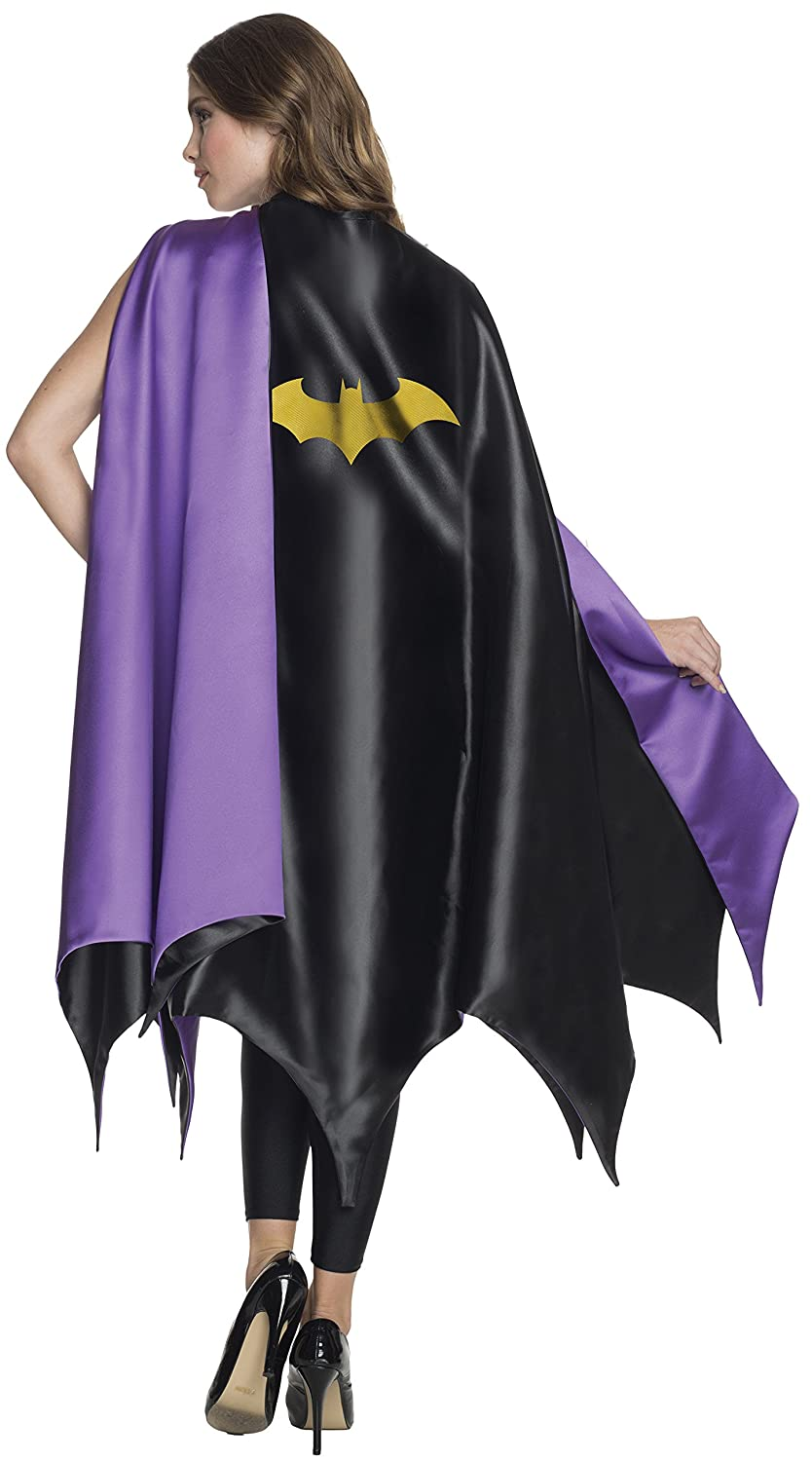 Amazon.com Rubieu0027s Womenu0027s DC Superheroes Deluxe Batgirl Cape Multi One Size Clothing  sc 1 st  Amazon.com : batgirl costume adult  - Germanpascual.Com