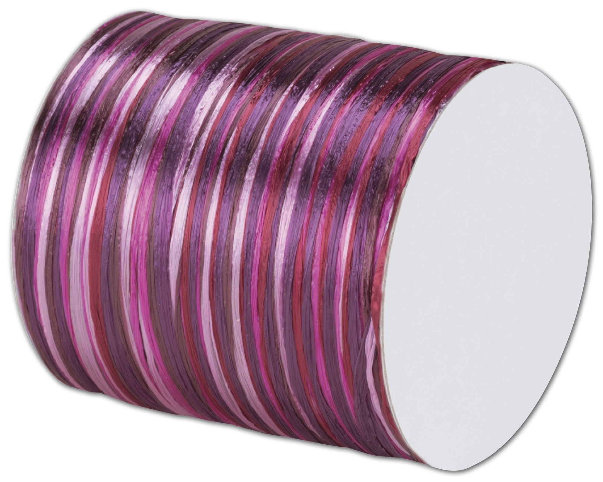 Raffia Pearl Cerise Multi Ribbon 1/4'' x 55 Yds (2/pack) - BOWS-138-606 by Miller Supply Inc