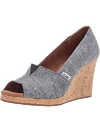 Toms Womens Classic Wedge Espadrille Wedge Sandal