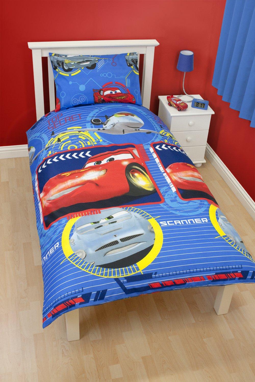 Character World 135 x 200 cm Disney Cars Spy Single Rotary Duvet Set:  Amazon.co.uk: Kitchen & Home