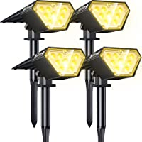 4-Pack Biling IP67 Waterproof 2-in-1 Solar Landscape Lights