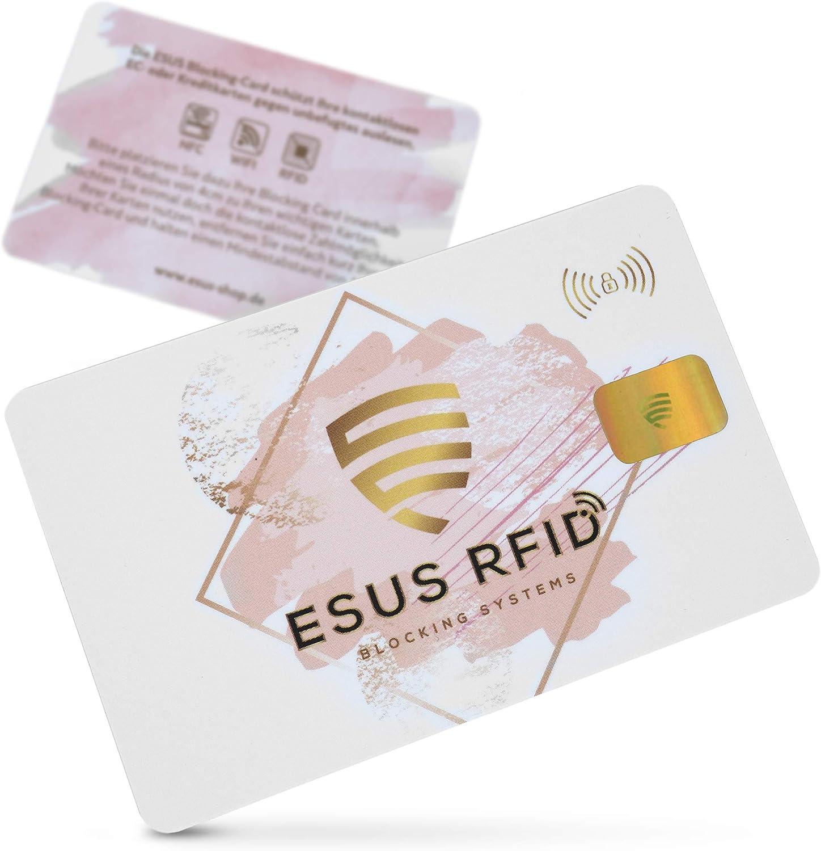 1 Karte mit RFID Schutz sch/ützt den ganzen Geldbeutel ESUS/® RFID Blocker Karte Sichere RFID St/örsender Technologie 2020 RFID Geldbeutel Herren Schutzkarte RFID Blocker Ultrad/ünn 0,9mm