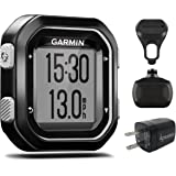 Garmin Edge 25 GPS Cycling Computer 010-03709-20 and Garmin Speed Sensor 010-12103-00 with extra Wearable4U Wall Charging Adapter Bundle