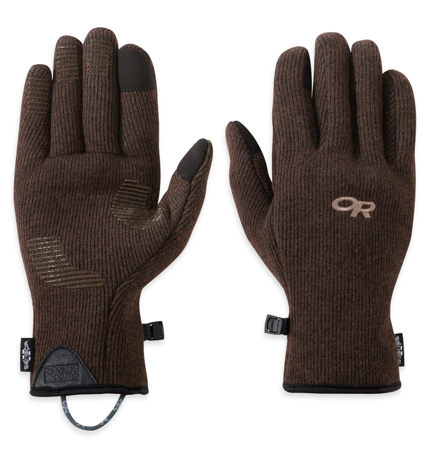 Outdoor Research Men's Flurry Sensor Gloves, Earth, X-Large