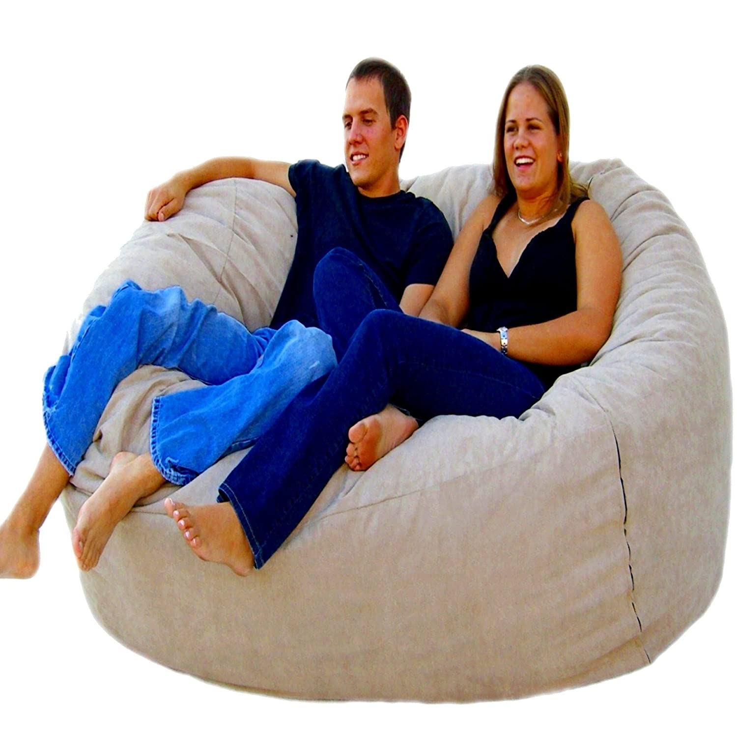Amazon Cozy Sack 6 Feet Bean Bag Chair Large Buckskin Kitchen Dining