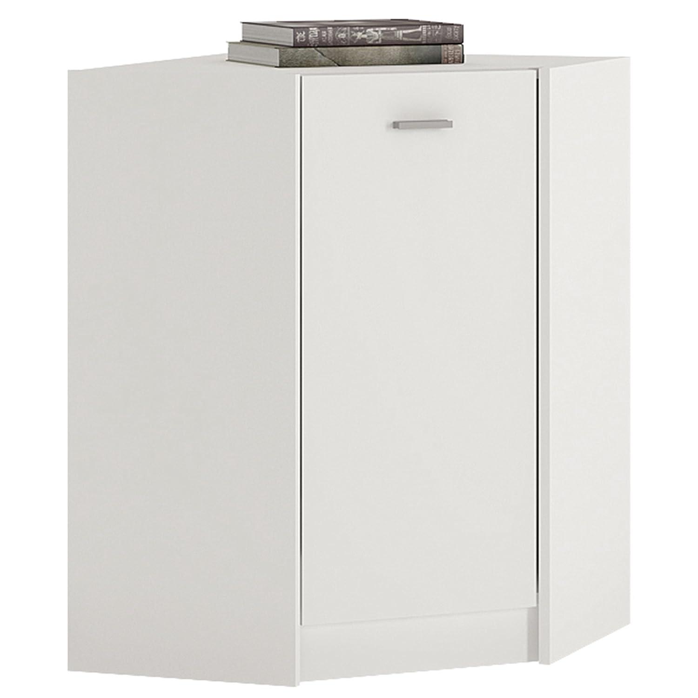 P&N Homewares Crescita Corner Cupboard in White | Cupboard Storage | Furniture | 60.9cm Wide