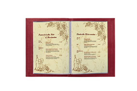 Cuaderno Sigel para carta de menús con tornillos de unión ...