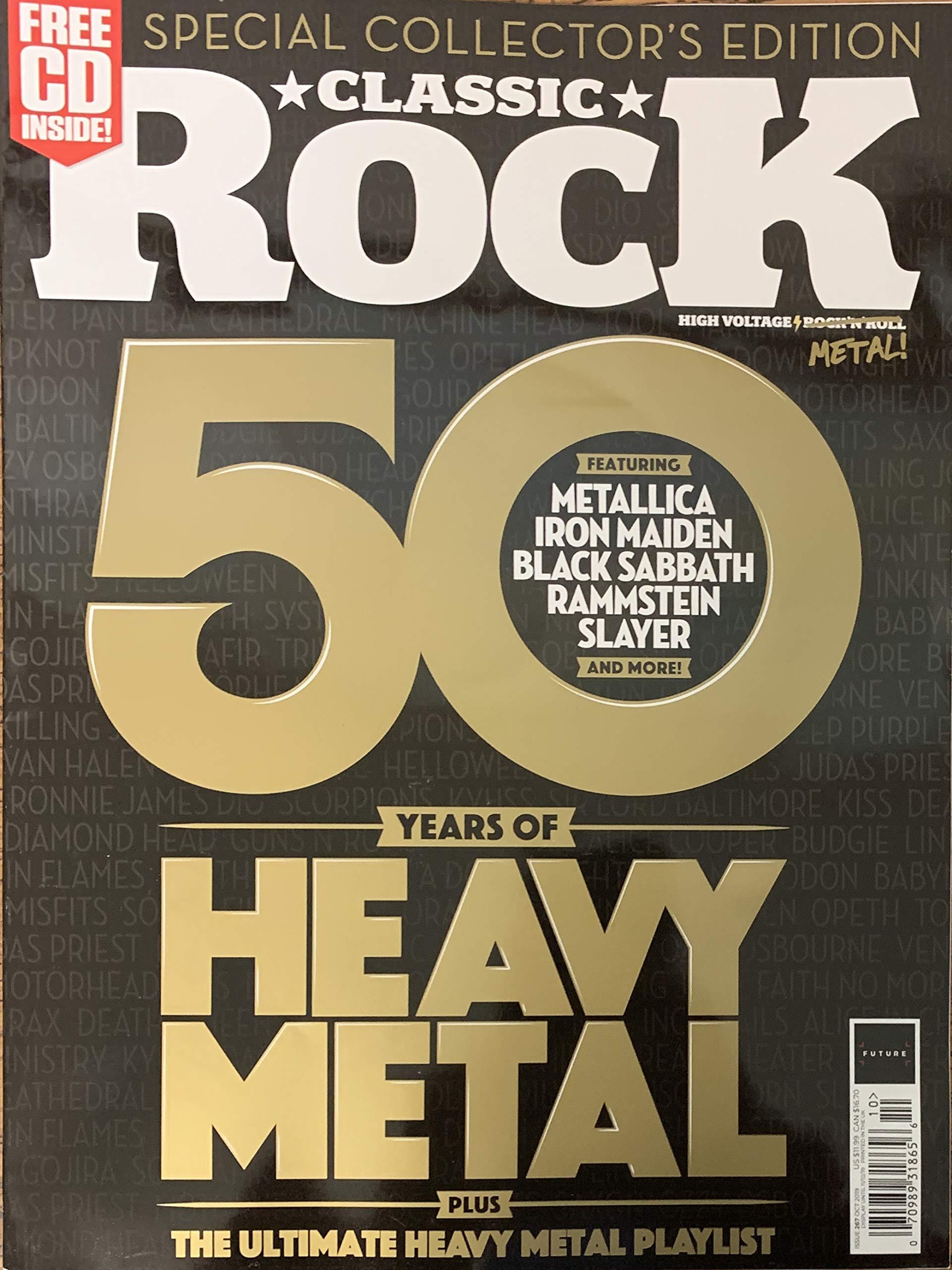 CLASSIC ROCK MAGAZINE UK - OCTOBER 2019 - 50 YEARS OF HEAVY METAL:  Amazon.com: Books