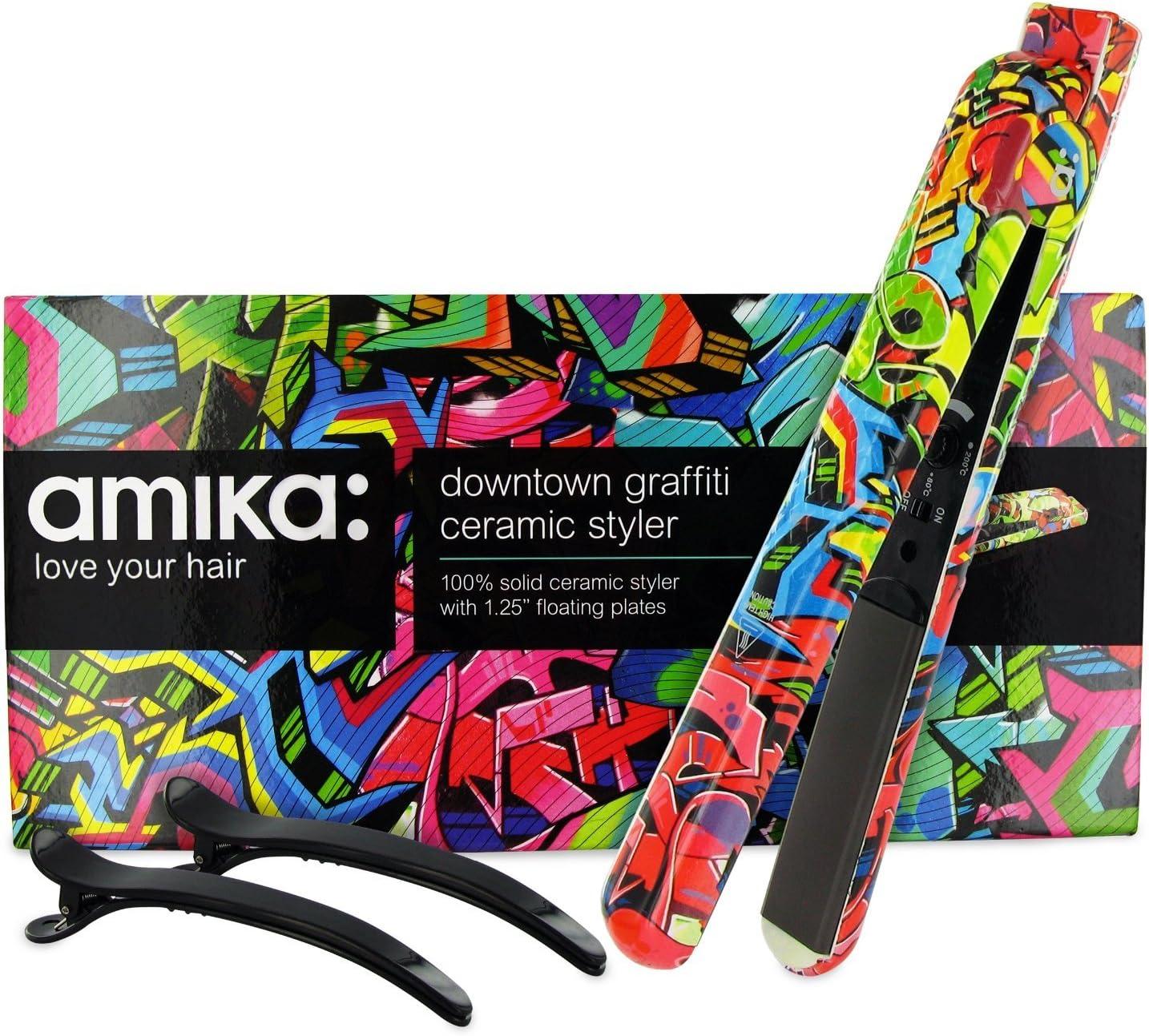 Amika Ceramic Styler Hair Straightener Graffiti