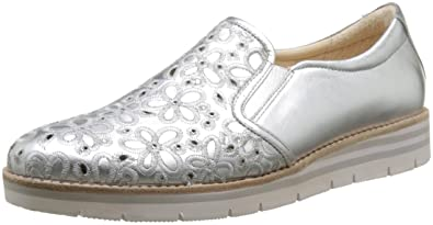 Gabor Shoes Women's Comfort Brogue Shoes, Silver (Silber 10