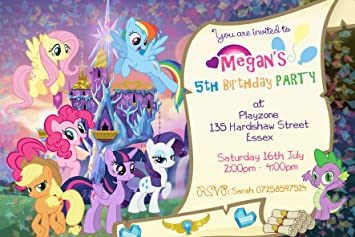 My Little Pony Scroll Party Invitations Envelopes Personalised