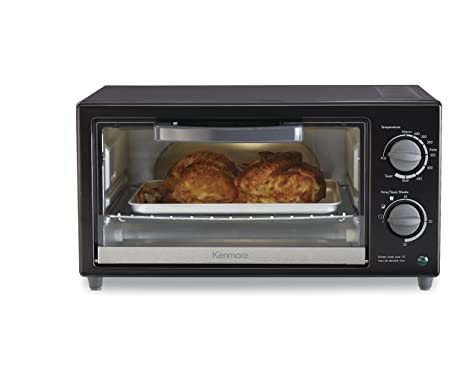 Amazon.com: Kenmore 88914 4-Slice Toaster Oven in Black: Kitchen ...
