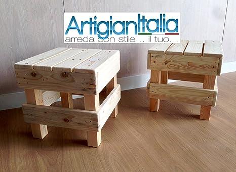 Sgabello Con Pallet : Coppia n° sgabello puff pouf sedia in legno design panca per bar