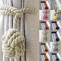 John Aird Pair Of Rope Ball Curtain Tie Backs