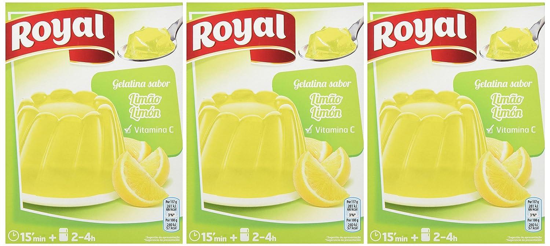Royal - Gelatina Limon, 170 g - [pack de 3]: Amazon.es: Alimentación y bebidas