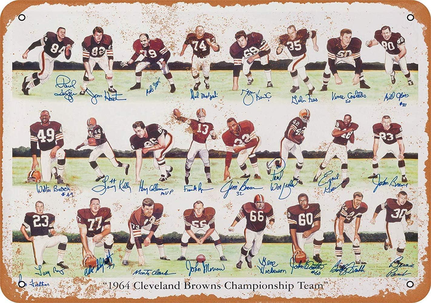 NOT Cleveland Browns Placa de Cartel de Chapa Vintage Retro Cartel ...