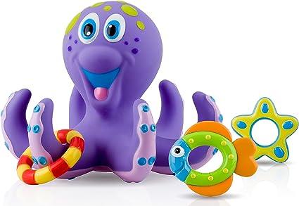 Nuby Octopus Hoopla Bathtime Fun Toys Purple