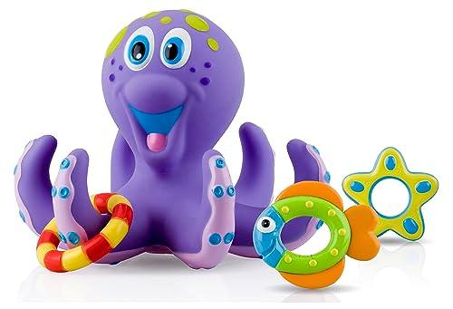 Nuby Octopus Floating Bath Toy, Multi-Colour