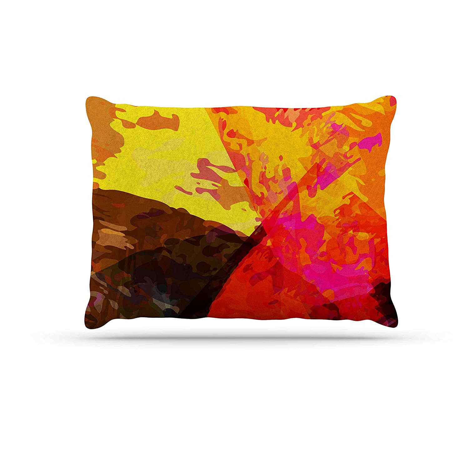 KESS InHouse Matthias Hennig Into The Fire Red Yellow Dog Bed, 30  x 40